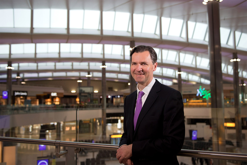 John Holland-Kaye at Heathrow