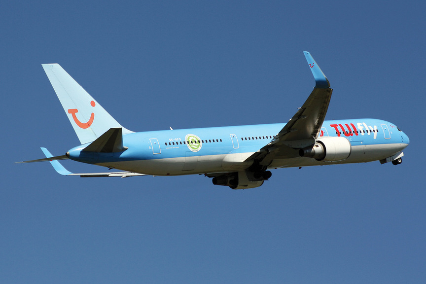 A Tuifly aircraft in flight