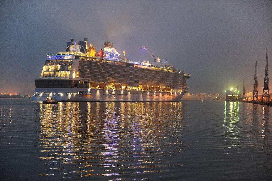 "Quantum of the Seas began operating ""cruise to nowhere"" itineraries for locals this month"