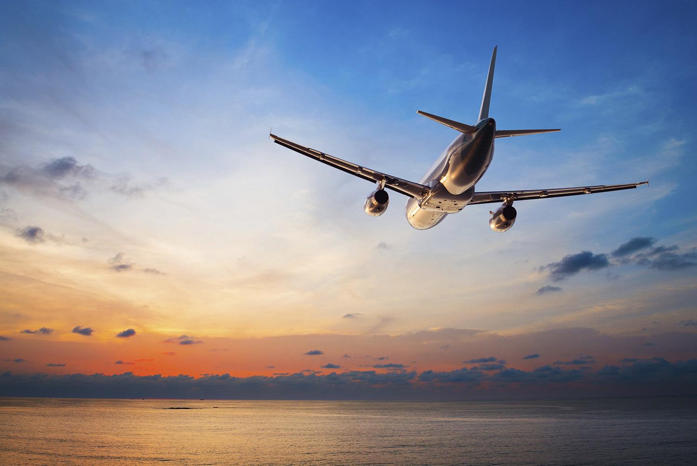 Aircraft at sunset (stock)