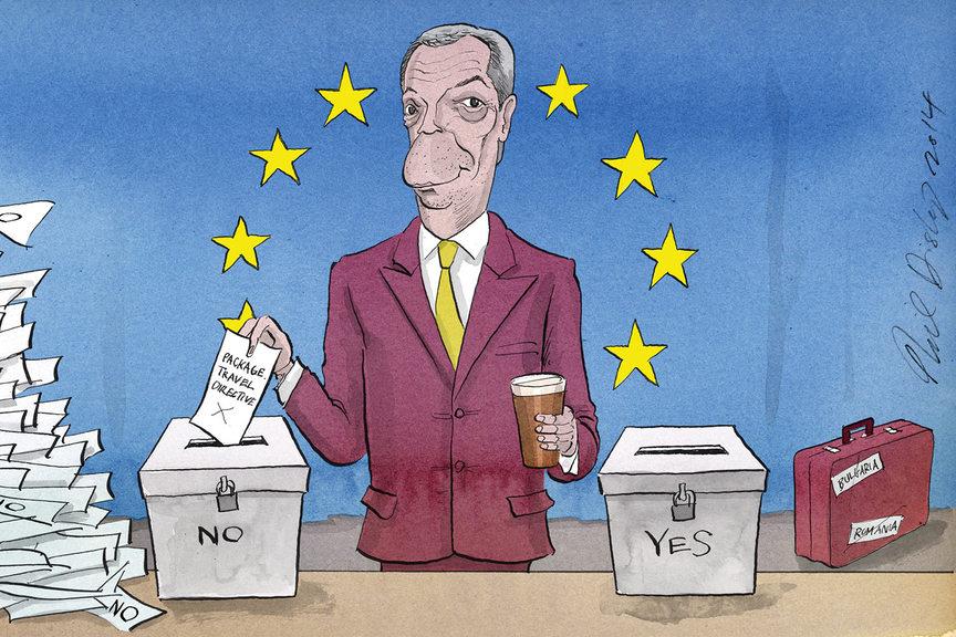Nigel Farage cartoon - PTD