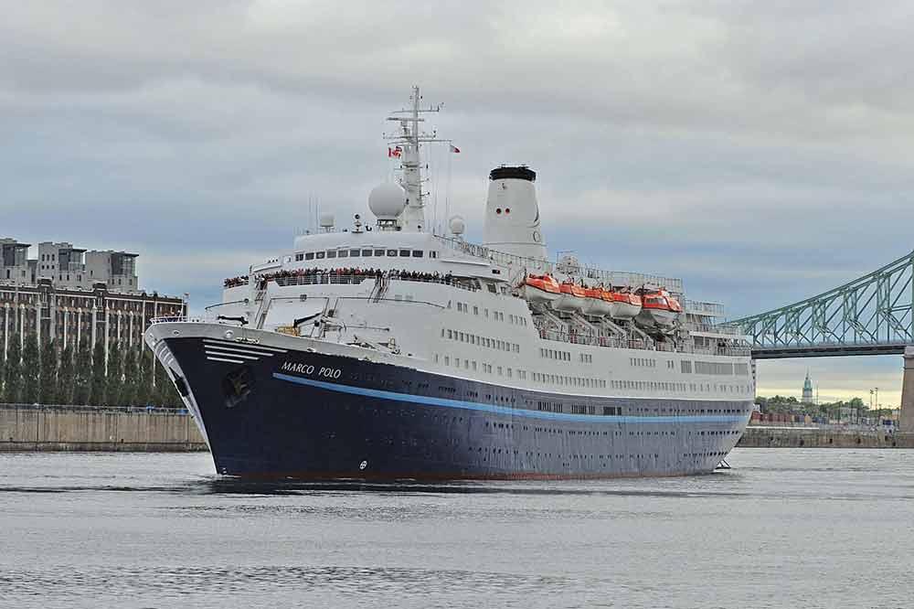 Marco Polo cruise ship in Montreal
