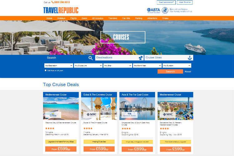 Travel Republic creates cruise offering