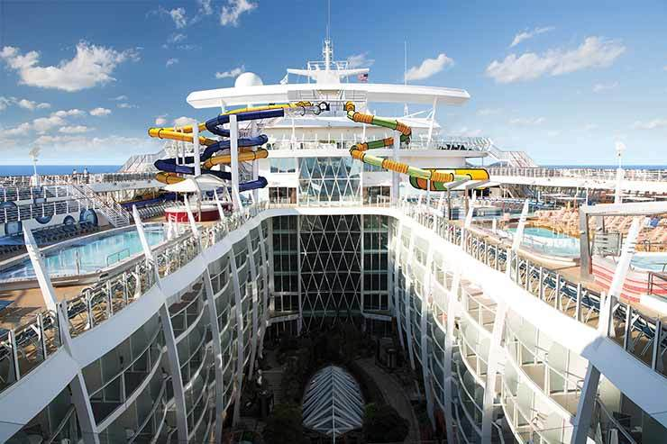 Harmony of the Seas Perfect Storm slides