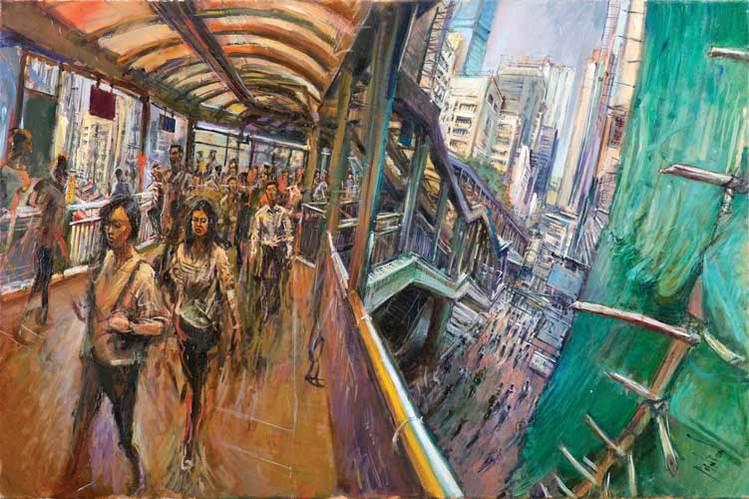 Manchester Airport's international artist-in-residence talks painting Hong Kong
