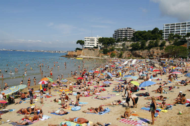 Salou, Spain, tourists