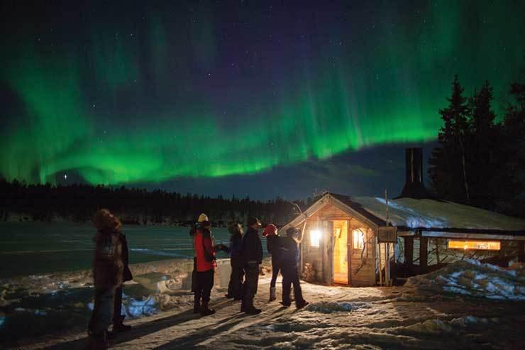 Northern Lights lodge Finland