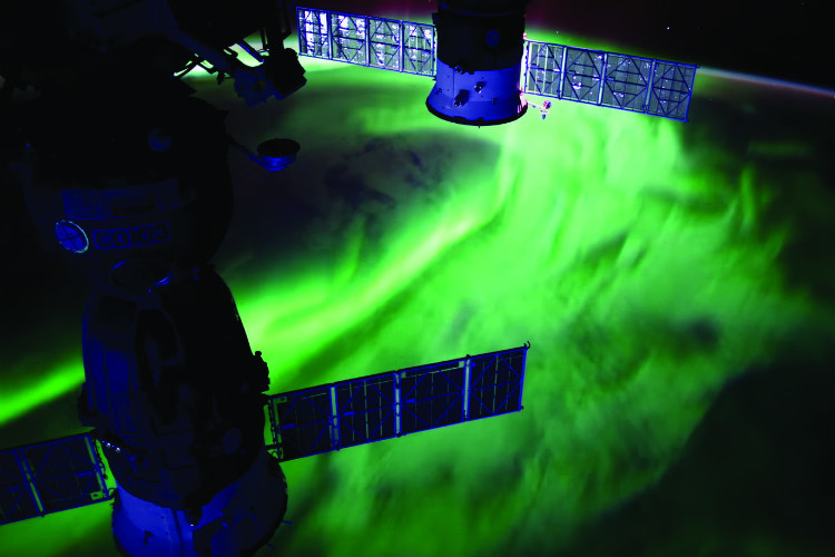Aurora captured from the International Space Station aurora_from_space credit NASA