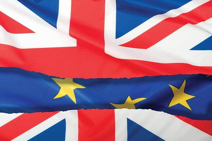 Union Jack and EU flag iStock_95347247
