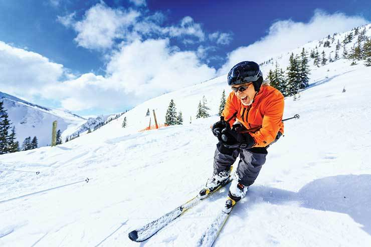 Skier in crouch iStock_23582339
