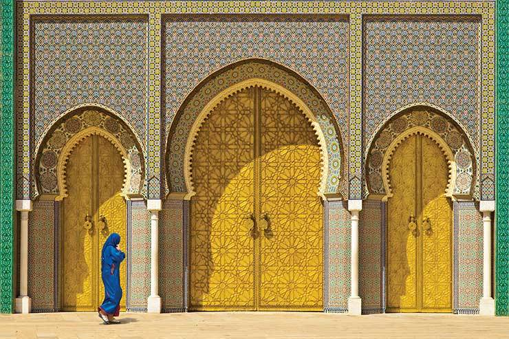 Fez, Morocco ornate doors