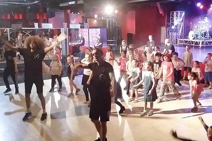 Britain's Got Talent's Diversity give a dance workshop at Butlins