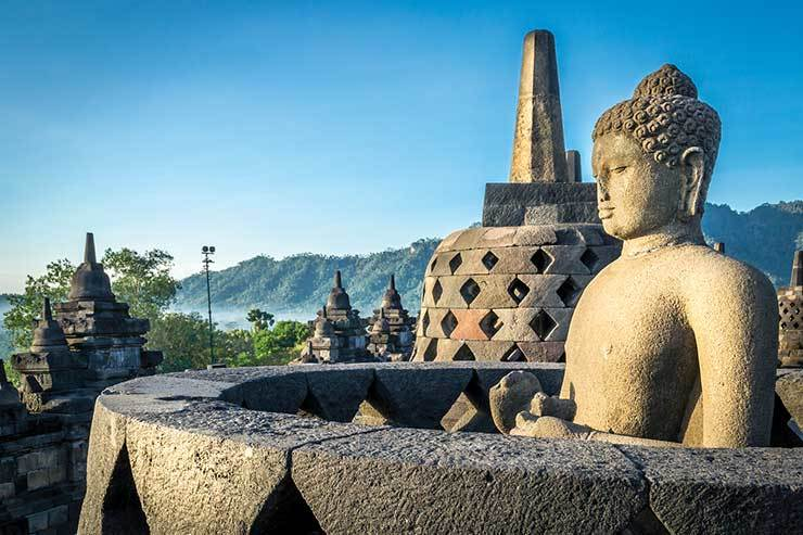Buddha statue at Indonesian temple iStock_77412307