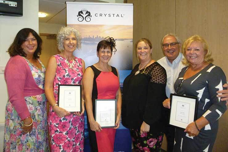 Crystal Cruises recognised its top-selling agents with a series of awards
