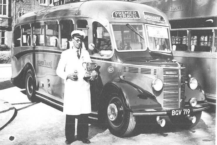 Premier Travel coach driver 1956