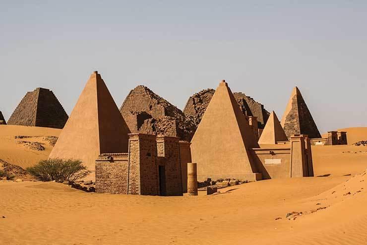 Meroe pyramids in the Sahara desert, Sudan