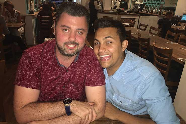 John Stephenson (left) and Sam Cassem