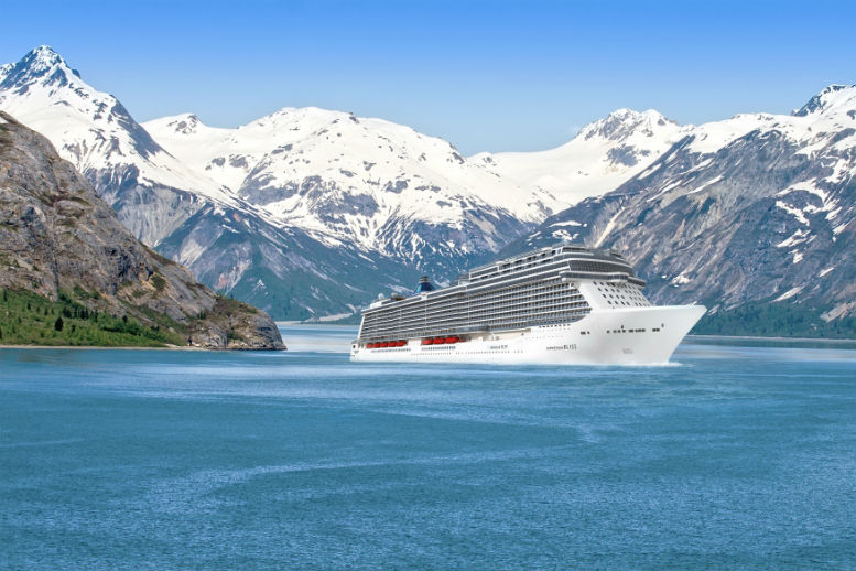 Norwegian Bliss pictured in Alaska