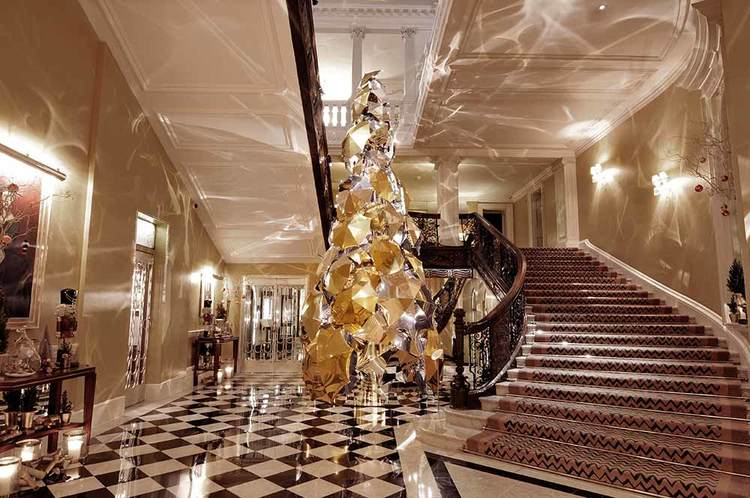 Claridge's Christmas tree by Christopher Bailey for Burberry in 2015