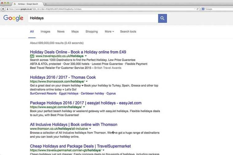Travelling in Google – how to move up the search rankings