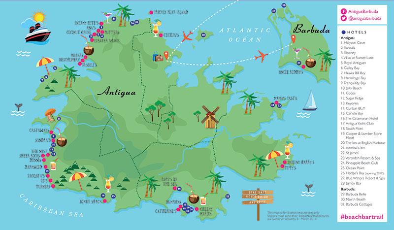 Follow Antigua and Barbuda's Beach Bar Trail