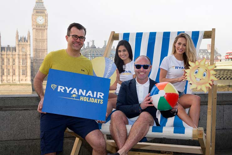 Ryanair Holiday promo by the Thames