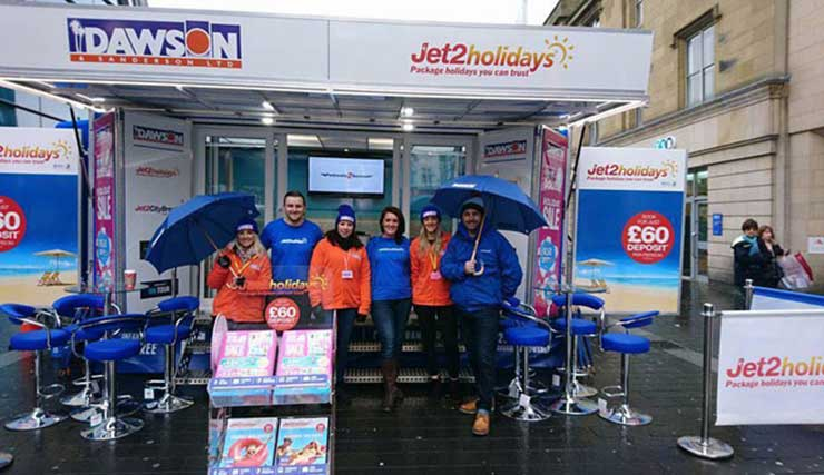 Jet2holidays pop-up store