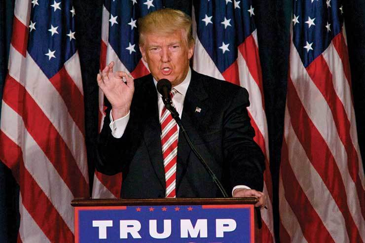 Donald Trump on the election circuit iStock-599958670