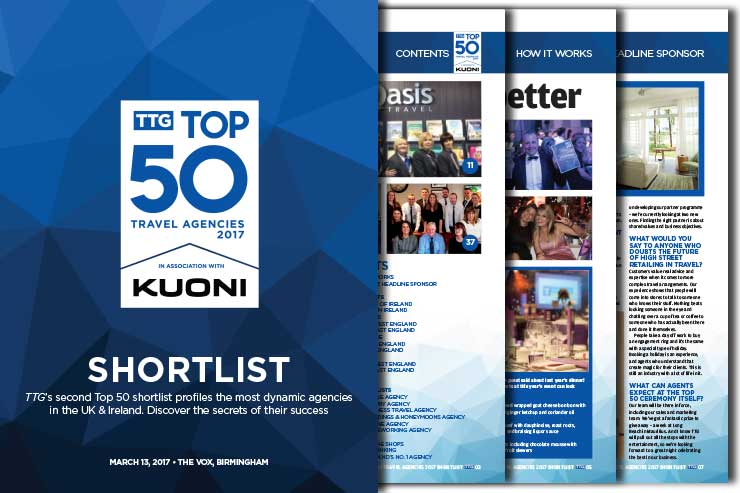 TTG Top 50 Travel Agencies 2017 Shortlist