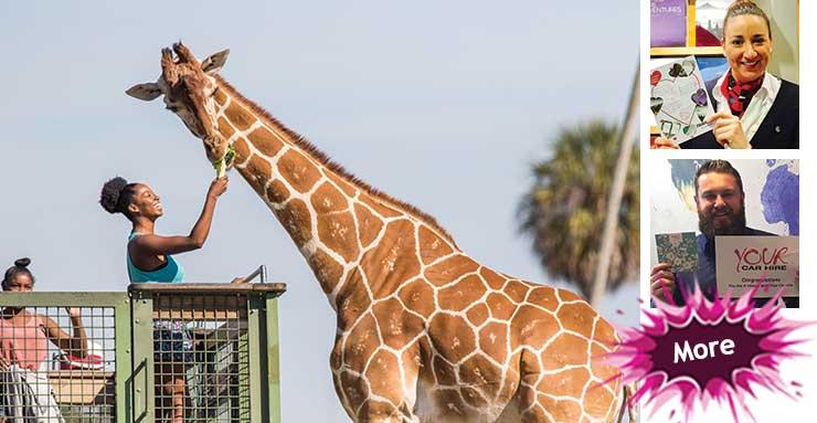 Jamelia's 'avin a giraffe