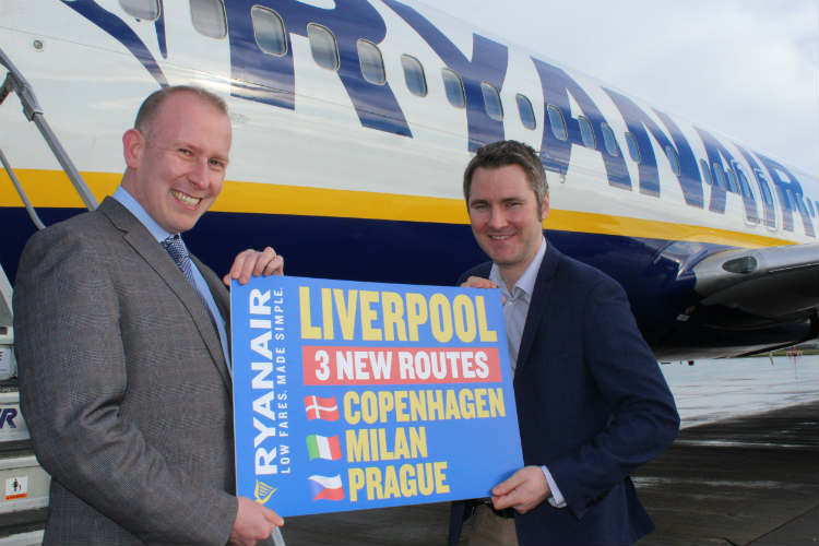Ryanair launches winter 2017 Liverpool programme