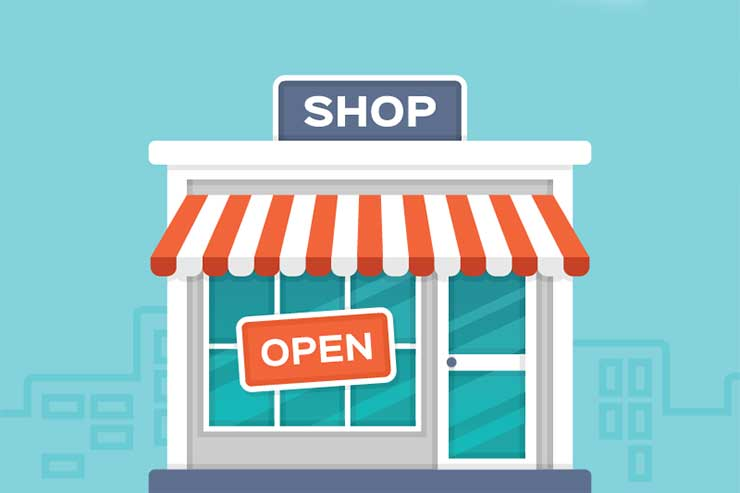 shop front graphic