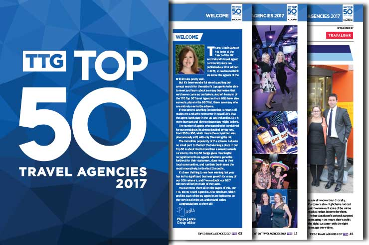 Read the definitive guide to the TTG Top 50 Travel Agencies 2017