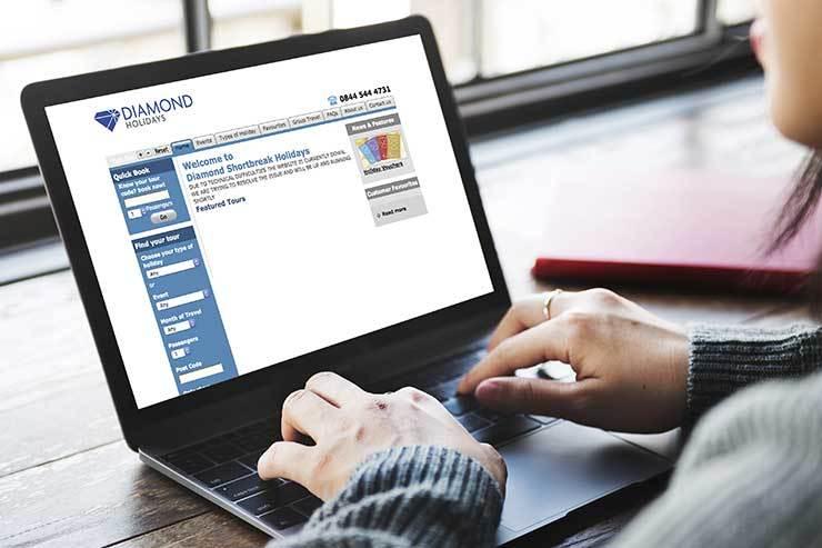 Laptop Diamon Shortbreak website iStock-518113858