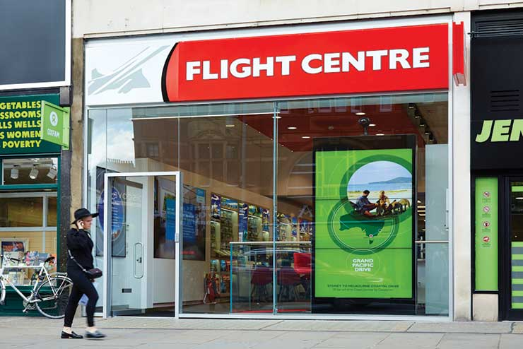 Flight Centre will shut a number of stores in England and Scotland