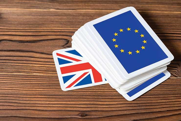 Brexit, EU, Britain deck of cards