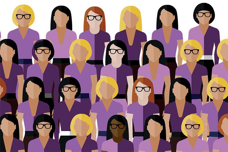 Purple women graphic
