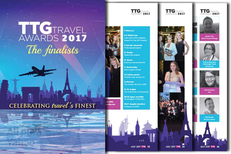 TTG Travel Awards 2017 - The Finalists