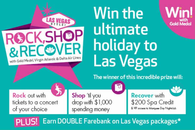 NEW: Win a Las Vegas holiday with Gold Medal