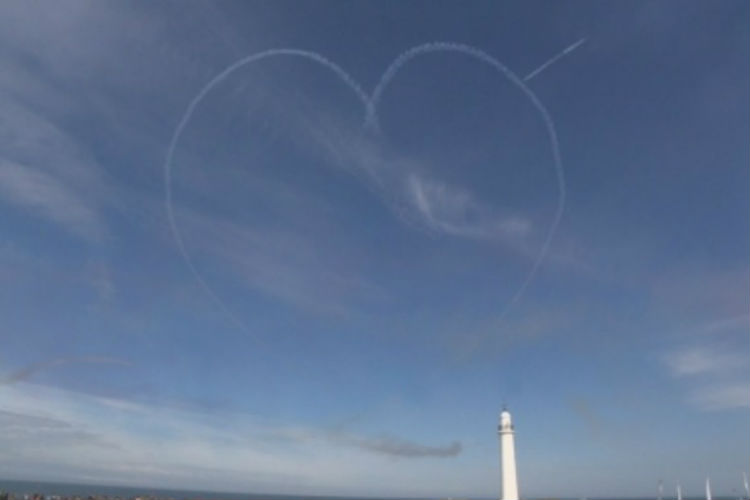 Red Arrows pay tribute to Westoe Travel apprentice