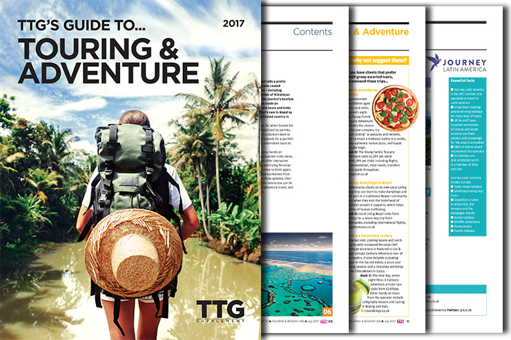 TTG's Guide to Touring & Adventure 2017
