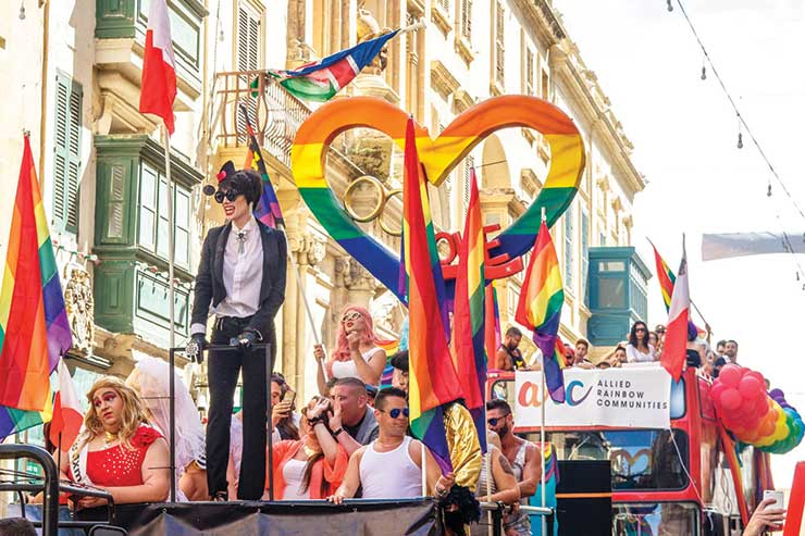 Malta retains top spot in league of most LGBTQ-friendly destinations