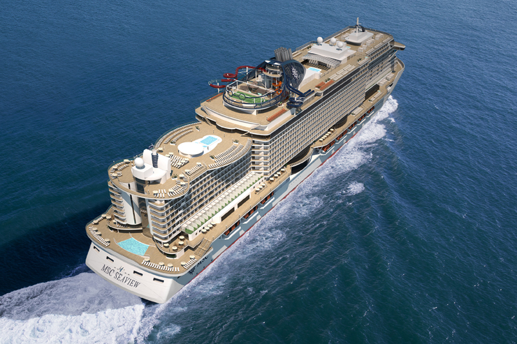 MSC floats out latest mega-ship