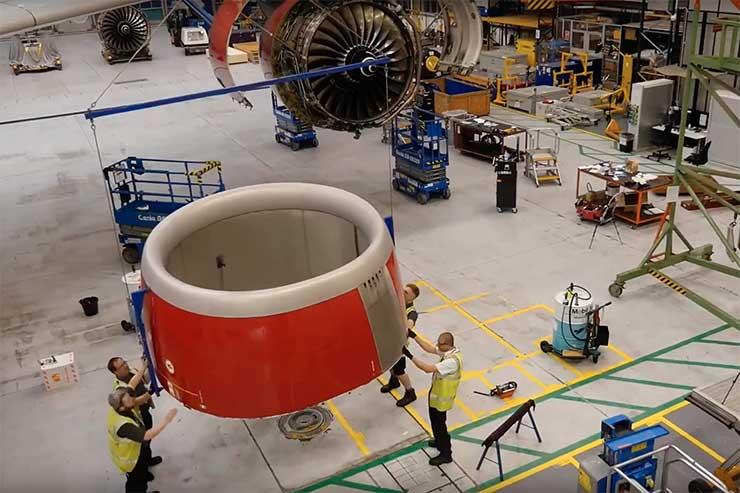 111-second jet engine change