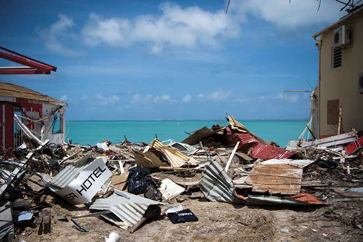 Devastation in the Caribbean. Credit: Getty Images