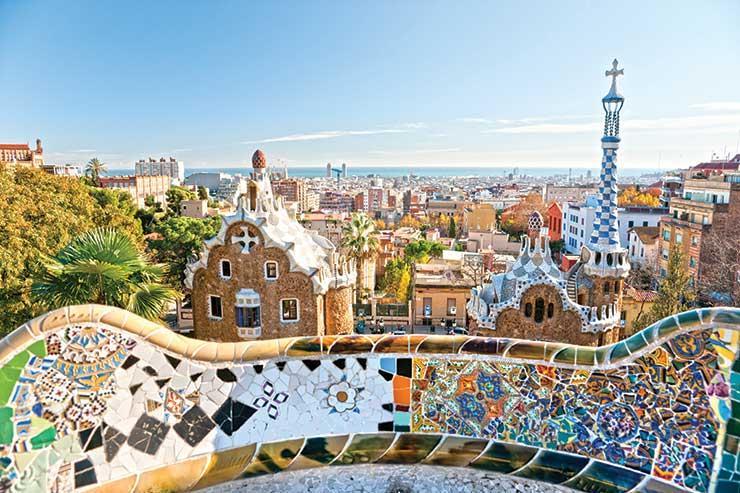 Barcelona skyline view iStock-149127892