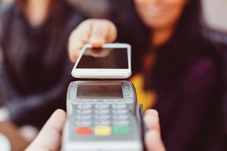 Smartphone contactless payment