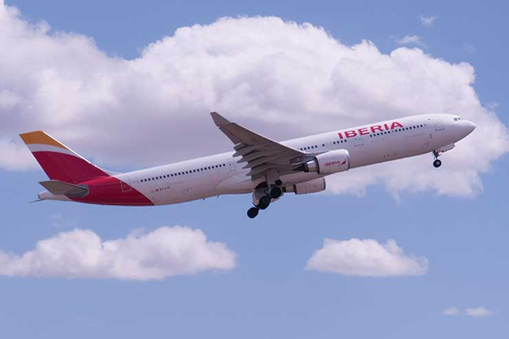 Iberia in flight