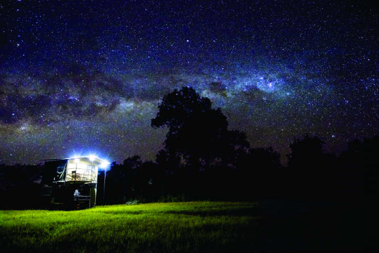 Camping under the stars in Tanzania