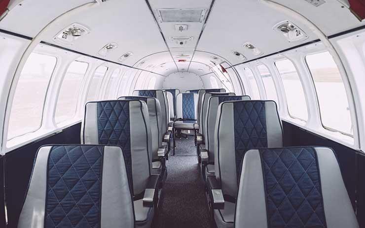Light aircraft cabin